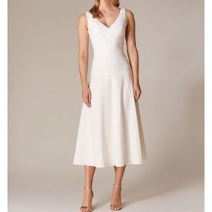 Karen Millen..Royal Ascot White Midi Dress
